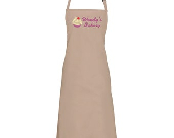 Personalised 'Cupcake Bakery' apron