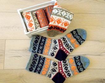 Winter socks, Knitted mens socks, Short socks, Knit slippers, Hand knitted wool socks, Soft and warm, Knitted gift, Woolen socks for men
