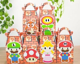 Super mario favor box, Super mario candy box, Mario goody bag, Mario treat bag, Mario cupcake box, Mario treat box, Mario Treat boxes