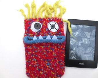 "E-book reader Pocket ""Kristian"", knitted, felted, pouch, case, felt, wool, case, e-book, e-reader, kindle, tolino,."