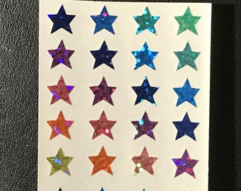 Sandylion Stickers Scrapbook, vintage Rainbow Glittery Mini Stars, Star (1 mod)
