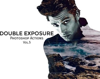 Double Exposure Photoshop Actions Vol. 5
