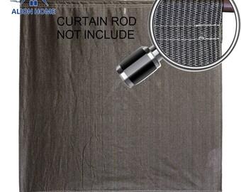 Custom Sized Sun Shade Rod Pocket Panel for Patio,Awning, Window Cover, Instant Canopy Side Wall, Pergola or Gazebo - Mocha Brown