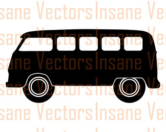 VW Bus Vector Silhouette Clip Art Image | VW Bus Vector | VW Bus svg | vw svg | vw vector | bus svg | Van svg | volkswagon svg