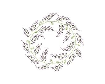 lavender wreath etsy