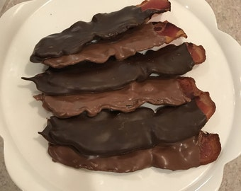 Chocolate Covered Bacon - 6 Strips!