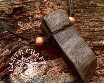 Ancient Semi-Fossilised Wood & Hemp Necklace