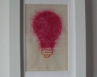Wall Art, Contemporary, Textile, Embroidery, Textile Art, Needle Felt, Hand Sewing,