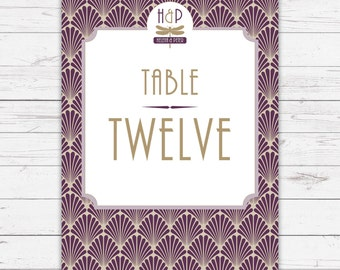 ArtDeco wedding table numbers - beautifully designed and printed