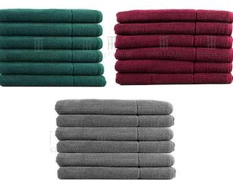 6 Pieces Bath Towel Set 100% Egyptian Cotton 600GSM Commercial Quality