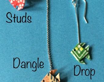 Fish Earrings - Origami