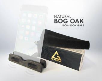 Wooden IPad Stand, Bog Oak IPad Stand, Wooden Stand, Smart Phone Stand, Bog Oak Phone Stand, Natural Bog Oak, Docking Station, For phones