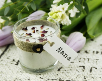 Mother's Day Gift - Personalised Candle including Special Message