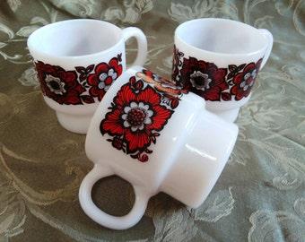 Vintage Coffee Cups - Set of 3