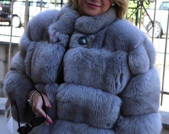 Fox Fur jacket with fox fur jacket fur coat fox fur coats silberfuchs mex