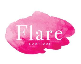 Premade Logo   Logo Design   Watercolor Logo   Boutique Logo   Beauty Logo   Makeup Artist Logo   Event Planner Logo   Watermark