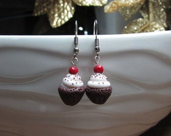 Polymer Clay Cupcake Earrings