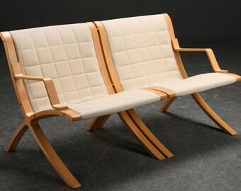 """Peter Hvidt & Orla Molgaard Nielsen for Fritz Hansen - two-seater sofa model """"AX"""""""