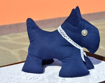 Bull terrier blue black DoorStop