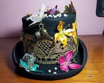 Butterfly Steampunk Top Hat