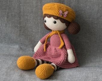 FREE SHIPPING - Crochet doll SOPHIE - Amigurumi doll - Stuffed doll - Handmade doll - Interior doll - Crochet toy - Handmade toy - Baby Gift