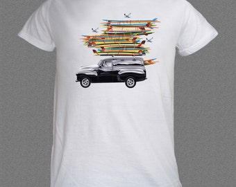 Surf Boards Surfing Summer Waves Ocean Sea Holiday T-shirt