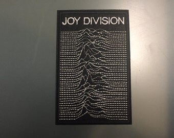 """JOY DIVISION Patch - Embroideed Iron On Patch - 3""""X4 1/2""""  -Unknown Pleausures"""