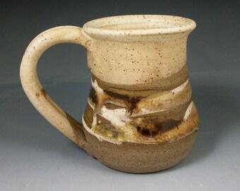Wheel Thrown Pottery coffee cup Light Mocha Swirl