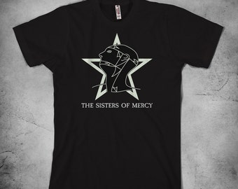 The Sisters of Mercy - t shirt, mens t shirt, womens t shirt, gothic rock t shirt, dark wave shirt