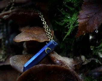 Titanium Quartz Moon Crystal Necklace