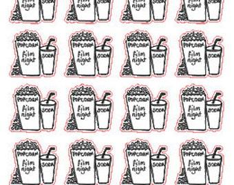 Film Night // Stickers // Erin Condren // Personal Filofax // Planner