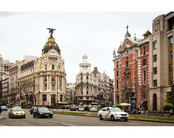 View of Metropolis building in Madrid