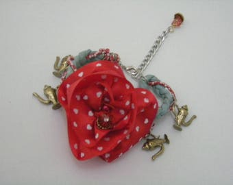 Rose Braided with magic Lamp Bracelet