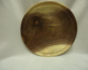 Hand Turned Walnut Plate