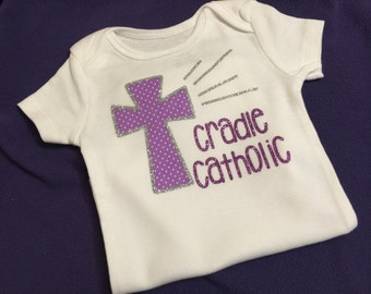 Cradle Catholic onesie