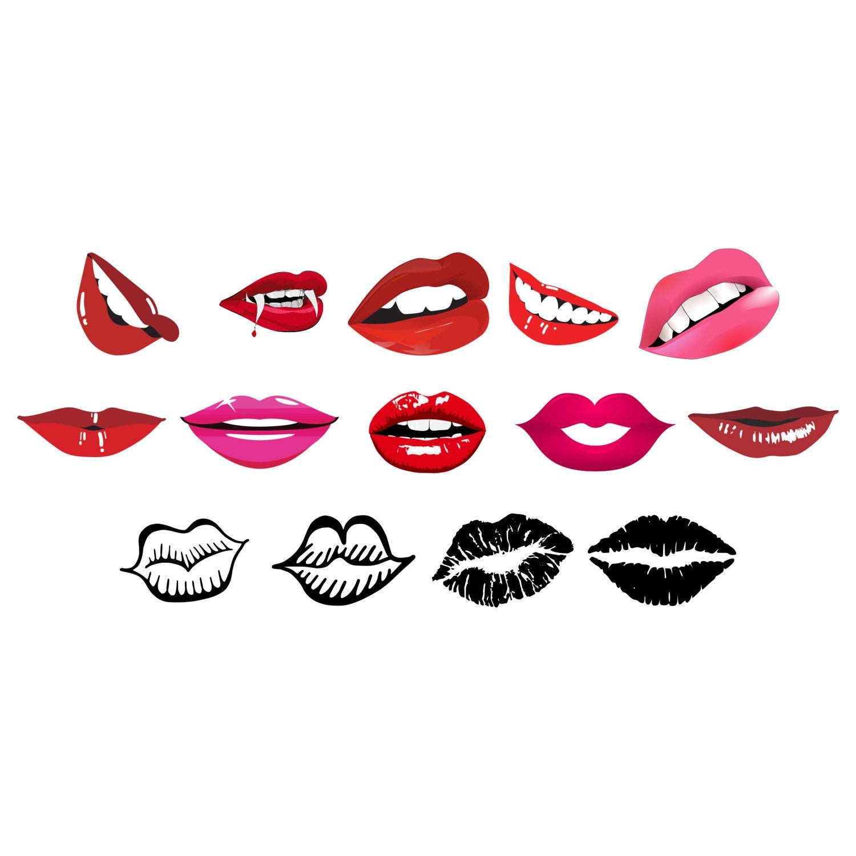 Download Kiss Lips SVG Clipart bundle Vector graphic SVG PNG ...