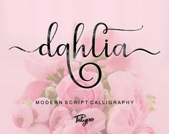Font, Digital Fonts, Handwritten Font, Modern Calligraphy Font, Watercolor font, Wedding Font, Brush font. Instant Download. 16.