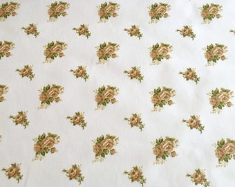Half metre cotton fabric, beige roses pattern fabric, beige roses fabric, beige roses pattern, floral fabric, roses fabric, floral pattern