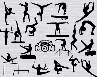 Gymnastics SVG Bundle, Tumbline svg, Gymnastics clipart, svg files for silhouette, cricut download, svg files, dxf, png, cut files, gymnast