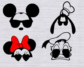 Mickey Mouse SVG Bundle, Mickey Mouse SVG files, Disney svg files, svg files for silhouette, cricut, vector, cutting file, dxf, clipart, eps