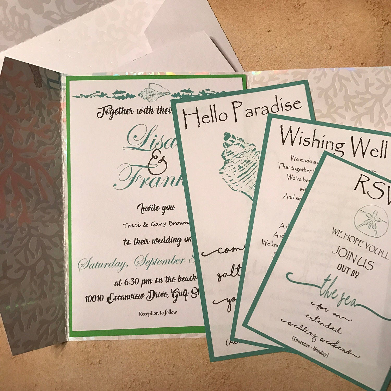periwinkle wedding invitation reception insert large