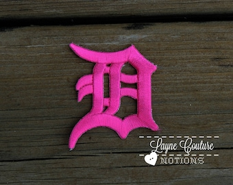 Pink Old English D Patch