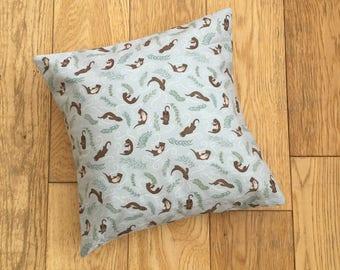 Otter Cushion, Otter Nursery Bedding, Nursery Cushion