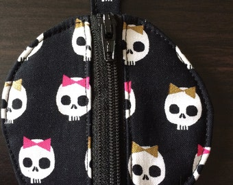 Cute Skull Earbud Pouch/Coin Purse