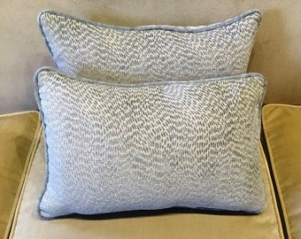 Colefax and Fowler fabric rectangular cushion