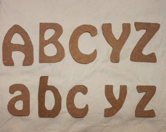 Individual letters in 3mm MDF. Pack of 5