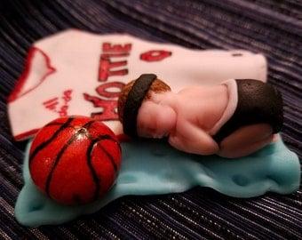 Small Baby Cake Topper - Handmade, Edible, Fondant, Baby Shower, Baby Boy, Baby girl, Cake decoration
