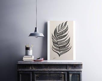 Zentangle Feather Art
