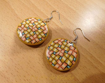 "Earrings ""Caco"", polymer clay."