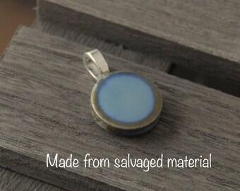 Blue Penny Tile Pendant (Salvage)